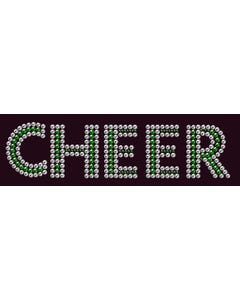 Rhinestone Heat Transfer Design - Cheer - 60421