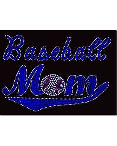 Rhinestone Heat Transfer Design - Baseball Mom - 60423