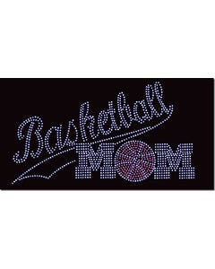 Rhinestone Heat Transfer Design - Basketball Mom - 60426