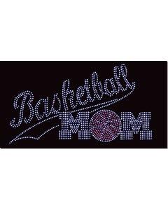 Rhinestone Heat Transfer Design - Basketball Mom