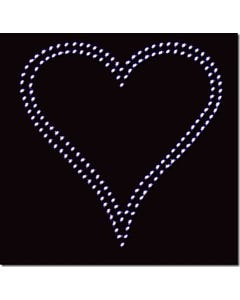 Rhinestone Heat Transfer Design - Heart D/L