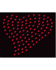 Rhinestone Heat Transfer Design - Red Heart - 60449