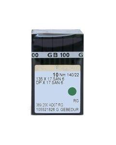 Groz-Beckert: 135x17, San 6, GEBEDUR, 140/22, RG, Titanium - 60065N