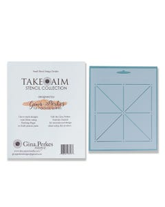 Gina Perkes Desings Take Aim Small Block Stencil - 60819