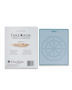 Gina Perkes Designs Take Aim Flower Stencil Guide - 60821
